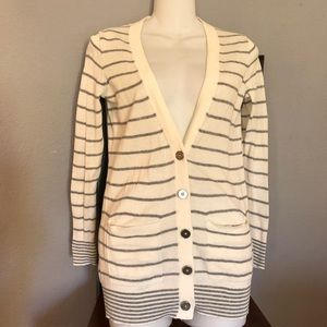 Madewell Striped Cardigan Sweater Size XS